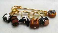 Stitch Markers ARGH MATEY  for Knit or Crochet set of by fcwhimsey, $12.99