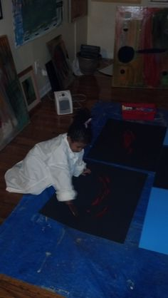maysa ma'at @ 4yrs old in the Play Studio SW ATL