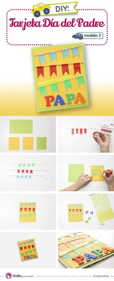 Aprende con este tutorial cómo hacer, de manera fácil, 4 modelos diferentes de tarjetas del Día del padre. Este post contiene vídeo guía y plantillas.