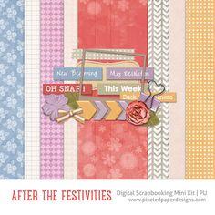 Free Digital Scrapbooking Kit - After the Festivities