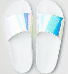 Fashion Thirsty Womens Ladies Fluffy Fur Trim Slider Comfy Slides Flat Rubber Sandal Summer Size