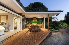 Are you looking for deck lighting ideas to transform your patio or backyard? Discover here how to transform your patio with alluring deck lighting ideas. Small Backyard Decks, Modern Backyard, Backyard Patio, Backyard Landscaping, Wood Patio, Concrete Porch, Wood Table, Outdoor Deck Lighting, Outdoor Decor