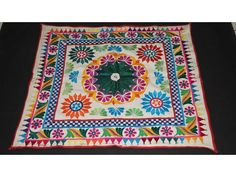 Vintage Handmade old kutch tapestry design Rare gujarati chakla silk embroidery in Home, Furniture & DIY, Home Decor, Wall Hangings | eBay
