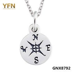 YFN 925 Sterling Silver Compass Pendant Necklace Life Direction Jewelry Graduation Birthday Gifts For Women and Men GNX8792