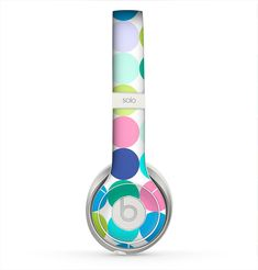 The Vibrant Colored Polka Dot V2 Skin for the Beats by Dre Solo 2 Headphones from Design Skinz, INC.