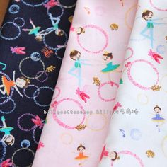 w671_45 - ballet girls- cotton fabrics - Half Yard ( 3 colors to choose ) by billycottonshop0413 on Etsy