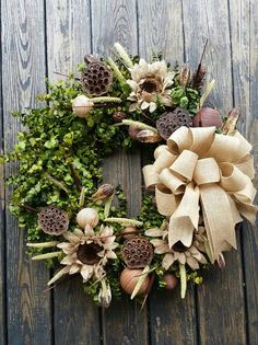 Wreath   30 inch Dried Flower Wreath    Eucalyptus by DyJoDesigns, $175.00