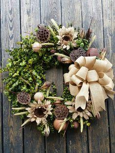 Wreath   30 inch Dried Flower Wreath    Eucalyptus by DyJoDesigns, $175.00