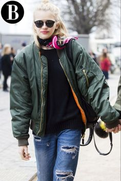 The bomber jacket is the perfect layering piece for fickle fall weather: