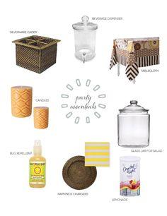 Outdoor party essentials