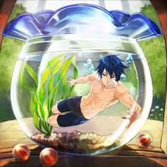 Free! ~~ Not just stripping for water, but shrinking, too?! Wow... :: Haruka