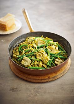 with asparagus artichokes and creamy pesto sauce more artichoke pasta ...