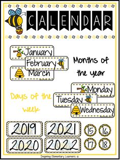 What does it include? Months of the Year Cards Calendar Number Cards Days of the Week Cards Classroom Calendar, Primary Classroom, School Classroom, Classroom Themes, Reading Resources, Math Resources, School Resources, Classroom Organization, Classroom Management