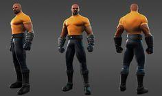 Power Man.  game character design model 3d best game femail girl
