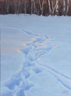 """""""Snow Tracks"""" by Nathan Hager http://www.ugallery.com/nathan-hager"""
