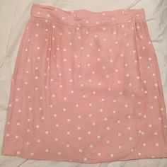 ONE OF A KIND Rad vintage pink polka dot 80s skirt ONE OF A KIND Rad vintage pink polka dot 80s skirt. I bought this and hat it custom tailored - fits like a 0-2. super comfy, can be dressed up or down. perfect for summer! American Apparel Skirts