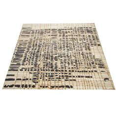 balinese silk and wool rug based on artist original drawing - 2oth c