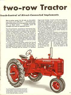Antique Tractors, Vintage Tractors, Vintage Farm, Vintage Tools, Farmall Tractors, Old Tractors, Crop Farming, Nostalgic Art, Classic Tractor