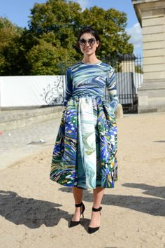 Eva Fontanelli of Elle Italy is looking bellissima in this Stella McCartney dress..