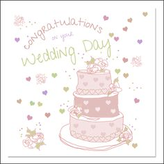 Wedding Day  Card Wholesale Greeting Cards, Unique Cards, On Your Wedding Day, Wedding Cards, Hello Kitty, Messages, Artist, Prints, Handmade