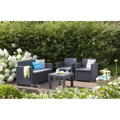 Example of how some can be quite cheapo looking (thin cushions, narrow armrests, seats not v.deep) 170Eur ALABAMA Salon de jardin aspect rotin - Achat / Vente salon de jardin Salon de jardin aspect rotin - Cdiscount