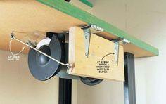 Workshop grinder hideaway