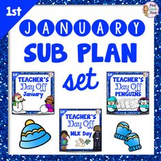 Need a break this January? The three products included in this packet are each designed to give you a worry free day off. Click print and you will have activities and worksheets to keep first graders engaged and busy for three full days, all with themes perfect for January.