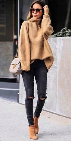 45 Perfecte winteroutfits voor inspiratie / 005 - Pullover - 45 Perfect winter outfits for inspiration / 005 - Pullover - outfits ideas Look Fashion, Autumn Fashion, Womens Fashion, Fashion Clothes, Latest Fashion, Tween Fashion, Fashion 2016, Cheap Fashion, Winter Fashion Women