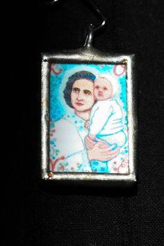 Saint Gianna Small Soldered Charm by TreeOfHeaven on Etsy, $15.00
