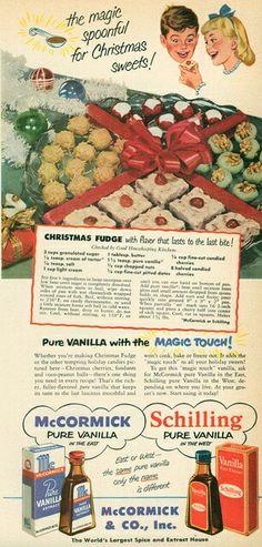 Vintage Christmas baking ad- nice!