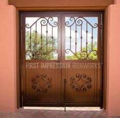 First Impression Ironworks Exterior Iron Entry #ornamentaliron #ironentry #irondoor #customiron #ironartwork. Storm DoorsSecurity ... & First Impression Ironworks Custom Iron Window Cover ...