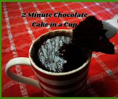 Checkout this awesome 2 minute chocolate cake in a cup recipe that will have your craving sorted in no time! Beach Picnic, Chocolate Cake, Cravings, Make It Yourself, Recipe, Awesome, Chicolate Cake, Menudo Recipe, Chocolate Cobbler