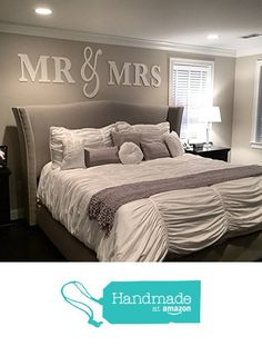 Mr & Mrs Wall Hanging Decor Set, Artwork for Wall Home Decor Over Headboard, Bedroom Newlywed Gift for Bride and Groom Wedding Gift KING Size (Item - MMW100 K) from Z Create Design