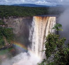 Kaieteur Falls Top 10 Greatest Waterfalls in the World  http://www.traveloompa.com/top-10-greatest-waterfalls-in-the-world/