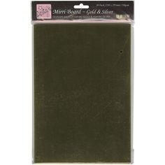 Anita's A4 Mirri Board 210gsm 20/Pkg-Gold & Silver - Craft Mirror Cards  on ebay #Docrafts