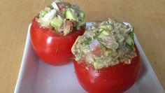 Ein leckeres Rezept für gefüllte Tomaten mit Thunfisch-Avocado Creme.✚✚ Schmeckt als Vorspeise oder auch zum Lunch! Gesund und frisch✚✚ Zugreifen!