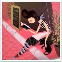 Mulheres de Leitura - illustratedladies: (via Leo Espinosa)