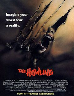 """After a bizarre and near fatal encounter with a serial killer, a television newswoman is sent to a remote mountain resort whose residents may not be what they seem."" Find THE HOWLING in our catalog: http://highlandpark.bibliocommons.com/item/show/869969035_the_howling"