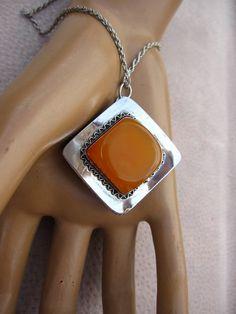 Vintage Sterling Silver Butterscotch Amber by rockchicknetherland