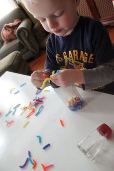 Pipe Cleaner Sprinkles -  Pinned by @PediaStaff – Please Visit http://ht.ly/63sNt for all our pediatric therapy pins