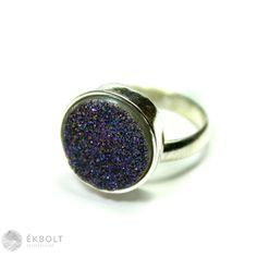 Ezüst gyűrű achát kővel Druzy Ring, Rings, Jewelry, Jewlery, Jewerly, Ring, Schmuck, Jewelry Rings, Jewels