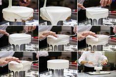 Покрытие глазурью торта