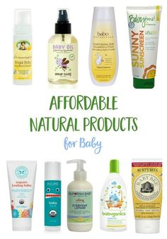 Affordable natural baby care products that you can easily find on your next trip for diapers or groceries!  | skin care  | eco baby | organic products | organic baby | #nontoxic #baby #naturalproducts