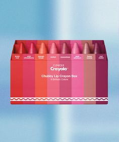 Clinique Crayola Chubby Stick Lip Balm Collab | See it here first: the way-cool color collaboration between Clinique and Crayola. #refinery29 http://www.refinery29.com/2017/01/134330/clinique-crayola-chubby-sticks