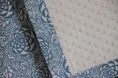 Snuggle Blanket, Pretty Petal, pram size minky baby blanket $40