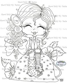 Fancy Pants My Besties digi stamp by sherri Baldy Big Eyes Artist, Line Art Images, Gothic Culture, Creation Art, Ragamuffin, Coloring Book Pages, Fancy Pants, Copics, Digital Stamps