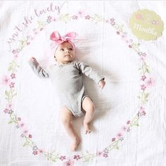 2 months! @chasingcallie NEW Muslin Blanket & Milestone Card Sets now at spearmintLOVE.com
