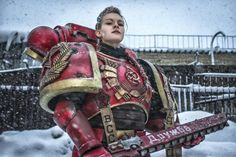 Female Soviet Space Marine Cosplay