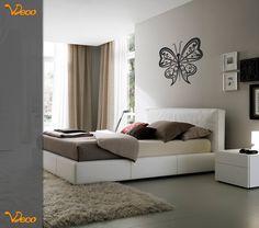 Mariposa. Para pared. Puede utilizarse como cabecero de cama. Tamaño y color a elección. Vdeco.