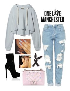"""One Love Manchester"" by faanciella ❤ liked on Polyvore featuring Richard Braqo, Topshop, Chanel and OneLoveManchester"
